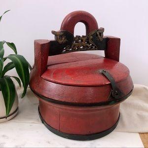 Antique Imported Chinese Wedding Basket